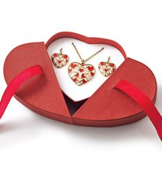 Floating Hearts Necklace and Earring Gift Set  488-610  Reg. $19.99  Sale $9.99