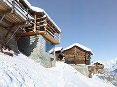 Balcony, Maison Boisset in Orsières Switzerland by Savioz Fabrizzi Architectes