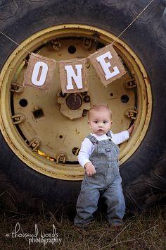 John Deere 1st Birthday Photo Idea