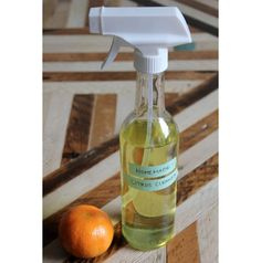 Cleaning Supplies That Smell Good: orange peels and vinegar; can't get any more basic.