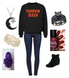 """Pumpkin queen"" by ptx1 ❤ liked on Polyvore featuring Frame Denim, CO, Jewel Exclusive and Miss Selfridge"