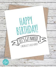 New Ideas For Quotes Happy Birthday Boyfriend Etsy Birthday Cards For Girlfriend, Happy Birthday For Him, Birthday Cards For Boyfriend, Girlfriend Humor, Boyfriend Humor, Funny Birthday Cards, Birthday Quotes, Boyfriend Card, Birthday Wishes