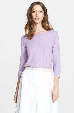 Women's Nordstrom Signature and Caroline Issa Open Back Cashmere Sweater