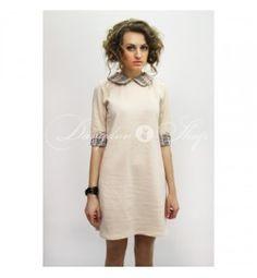 Платье классика с воротничком клетка Burberry