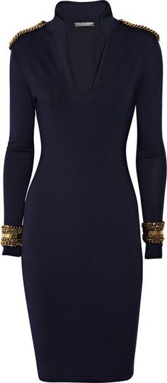 ALEXANDER MCQUEEN WOW!! I love this!! Embellished Wool-jersey Dress - Lyst