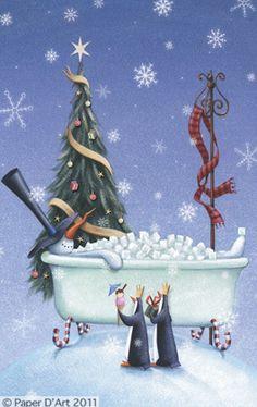 Artist Christmas  Reuben McHugh D'Art Noel Snowman