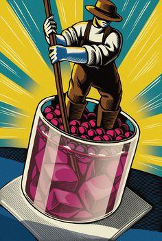 Chris Gall es uno de los grandes nombres dentro de la ilustración americana. Partiendo del pop-art, el comic, la fantasía, la ciencia-ficción, y también del mundo real, sus ilustraciones han recib
