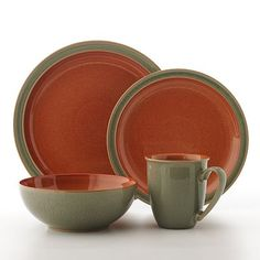 Denby Duets Sage and Paprika Dinnerware