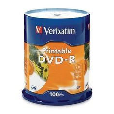 Verbatim Americas Llc Verbatim 16x Dvd-r Inkjet Printable Discs Have Been Extensively Tested For C