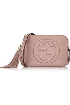 Gucci Soho Disco | Blush textured-leather (Cow) Zip fastening along top Designer color: Face Powder Weighs approximately 0.9lbs/ 0.4kg