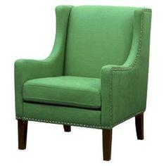 Jackson Upholstered Wingback Chair - Velvet Chocolate