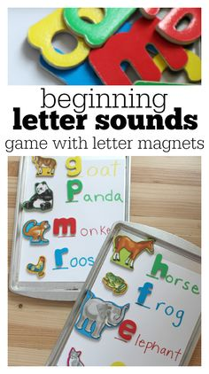beginning letter sounds game. Learning to read activity.