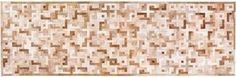 Eternity pattern hide carpet runner in oat tones.