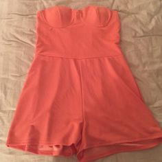 Peach Romper Peach ish colored romper worn once Charlotte Russe Dresses Mini