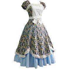 Partiss Damen Sweet Vintage Blumendruck Lolita Kurzaermel Ruffles Retro Style Klassische Kleider Lolita Cosplay Kostuem Lolita Kleider,Chinese S,Blue Partiss http://www.amazon.de/dp/B01E7156B0/ref=cm_sw_r_pi_dp_PnHdxb0R3RYFE