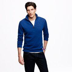 Cotton-cashmere half-zip sweater  $85.00