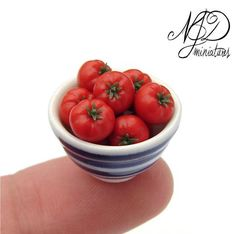https://flic.kr/p/fKHiMF | Beefsteak Tomatoes by NJD Miniatures | 1:12 scale, tomatoes handmade from polymer clay.  The bowl measures 20mm (0.8inches) in diamter.