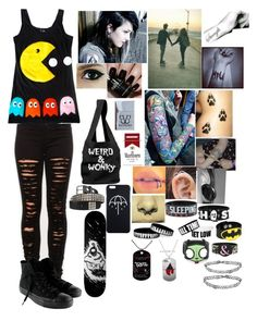 """""""I Wanna-All American Rejects"""" by leia-albin ❤ liked on Polyvore featuring Converse, Monki and Nails Inc."""