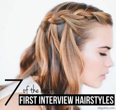 Easy hairstyle inspiration for your first job interview on www.ddgdaily.com