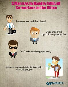 4 Mantras to Handle Difficult #Coworkers in the #Office.. How many of you agree with this? Please share your thoughts below.