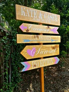 Rustic Wedding Signs, Wedding Directional Signs, Directional Signs, Wedding Decor, Wedding Signs by OneCoopedChick on Etsy