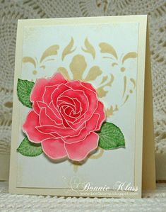 Stamping with Klass: Stenciling and Fifth Avenue Floral