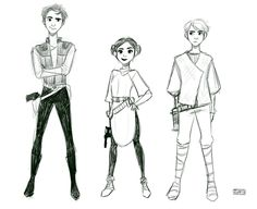 Original Trio (star wars teens AU) by TheGingerMenace123