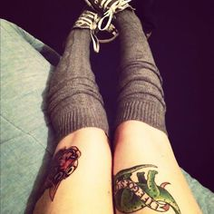 thigh tattoo | Tumblr