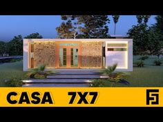 Casa de 7 x 7 metros 🏡 /con 2 dormitorios, asador y piscina 🏊🏼♂️ - YouTube Small Loft Apartments, Town House, Chevrolet Logo, Outdoor Decor, Youtube, Room, Home Decor, Home Plans, Hearths