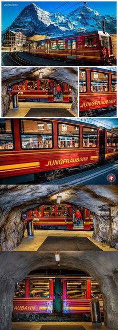 Die Jungfraubahn - Kleine Scheidegg © https://youtu.be/0JTb5xW4S-s - #Jungfraujoch #TopofEurope #Switzerland #Swisspictures