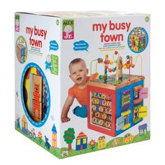 ALEX Toys Discover My Busy Town Wooden Activity Cube *** You can get additional details at the image link. (This is an affiliate link)