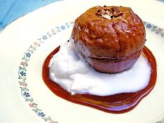 Baked Apples with Caramel Sauce from CookingChannelTV.com