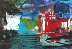 acrylics on paper on dibond, 2015, 45 x 65 x 2 cm,composition