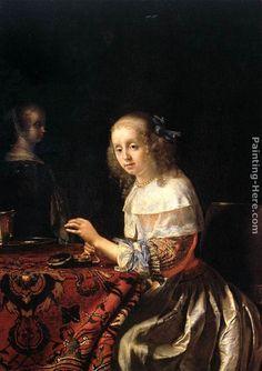 Frans van Mieris The Lacemaker Painting