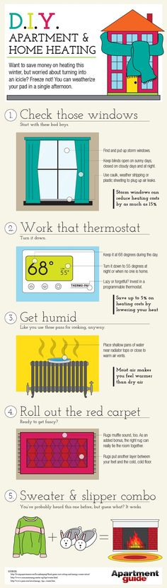 """Yep, it's cold out there! """"DIY Apartment and Home Heating"""""""