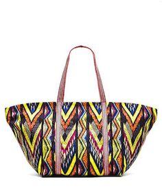 5b94a7e73bfe Tribal beach bag Yellow Fashion