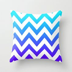PURPLE & TEAL CHEVRON FADE Throw Pillow by natalie sales - $20.00