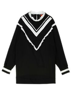 Black No.7 Long Line Sweater