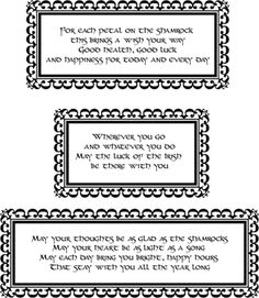 Printable Irish Blessings - free