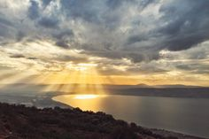 The Sea of Galilee from Golan Heights (Israel)