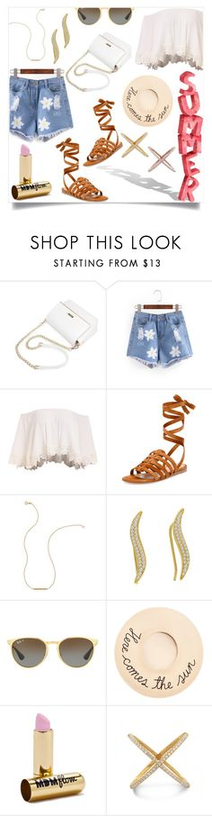 """""""Summer Style Essentials"""" by mlgjewelry ❤ liked on Polyvore featuring Gianvito Rossi, Wish by Amanda Rose, Ray-Ban, Eugenia Kim and MDMflow"""