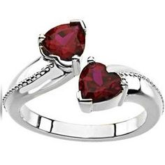 """Sterling Silver Birthstone Promise Ring    #PicturesOnGold.com      I LOVE IT!<3 if it was in sapphire !!""      I want this"