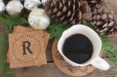 12 Handmade Gift Ideas Everyone Will Love - Personalized Cork Coasters