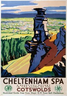 Vintage travel poster produced for the Great Western Railway and the London Midland & Scottish Railway. Artwork by C H Birtwhistle.//.,MAR16