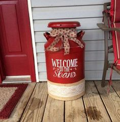 Please take note: (this listing is for self-adhesive vinyl only; milk may not be included) Porch decor like milk cans is one of the newer newer trends. Add a personalized charm to your milk jug and porch with this sticker
