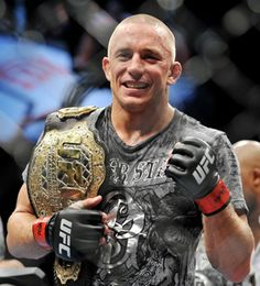 My favorite professional athlete, mixed martial artist and UFC welterweight champion Georges St. Gsp Ufc, George Saint Pierre, Kyokushin, Mma Fighting, Ufc Fighters, Fight The Good Fight, Sport Icon, Martial Artists, Combat Sport