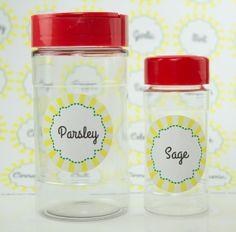 Spice Jar Label Printables