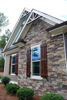 Image result for craftsman exterior color scheme with wood look garage