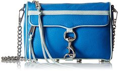 Rebecca Minkoff Mini Mac with Contrast Trim Cross Body, Bright Royal/Light Mint, One Size ** For more information, visit