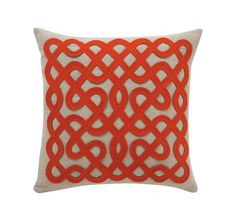 Labrynth Persimmon Pillow from Dwell Studio $88 (but clearly i'ma gonna need a cheaper version)